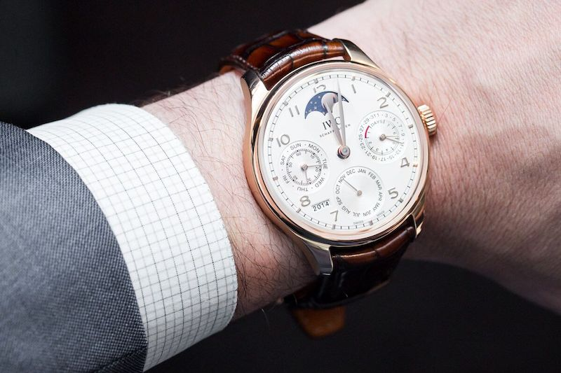 b4bc7495ef0 IWC Replica introduced the perpetual calendar into the Portugieser  collection in 2003. It was based on the automatic caliber 5000